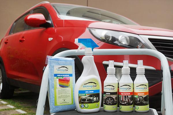 Sucio Kia Sportage lavado con productos Shining Car